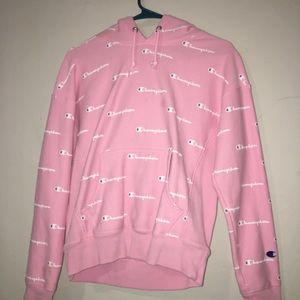 Women's Size M pink and purple champion hoodie